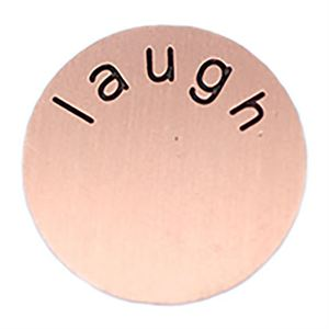 Picture of 'Laugh' Large Rose Gold Coin